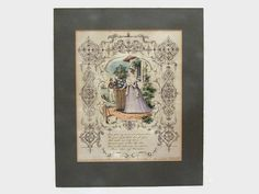 Antique Etching or Engraving Hand Coloured by WhiteHartAntiques