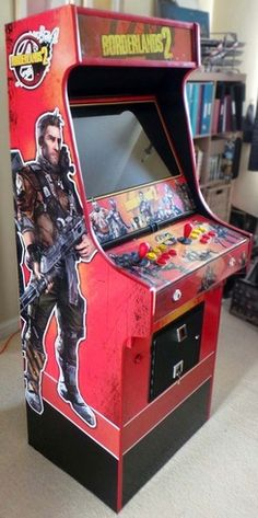 Holy freaking cow! Somebody made a borderlands 2 cabinet, and it is beautiful