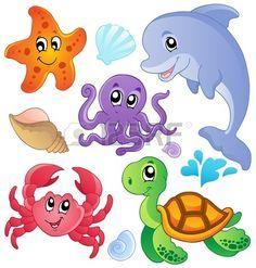 dibujos animados de peces y animales marinos - Buscar con Google