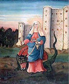 Santa Marta y el Dragon