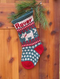 Ravelry: Pet DOG Christmas Stocking pattern by Annie's Woolens