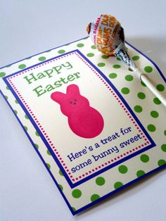 Michelle paige easter favors for teachers friends and family just printed these treat cards up i used a hole punched to add the holes easter treatseaster gifteaster negle Gallery