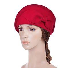 Vbiger Women's Beret Beanie Warm Wool Cap Hat (Red2) - http://todays-shopping.xyz/2016/06/14/vbiger-womens-beret-beanie-warm-wool-cap-hat-red2/
