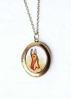 Love......Velveteen Rabbit - Locket Necklace | SarahLambertCook.com $32.00