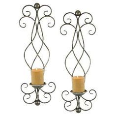 Aspire Home Accents Estelle Candle Wall Sconce - Set of 2 - 6625