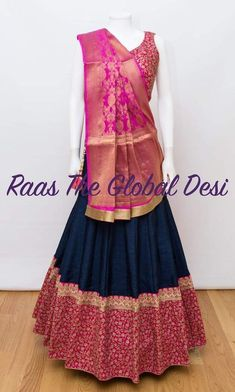 Chaniya Choli For Navratri Half Saree Lehenga, Lehnga Dress, Indian Lehenga, Sari, Lehenga Gown, Bridal Lehenga, Saree Blouse, Anarkali, Banarasi Lehenga