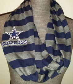 Dallas Cowboys Infinity Scarf loop scarf embroidered logo patch NFL Infinity Scarf by ItsPeachyKeen on Etsy https://www.etsy.com/listing/208100452/dallas-cowboys-infinity-scarf-loop-scarf