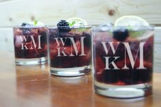 Engraved Whiskey Glasses, Monogram Glasses, Custom Scotch Glass, Etched Rock Glass, Personalized,Groomsman, Bridesmaid, Wedding Party Gift,
