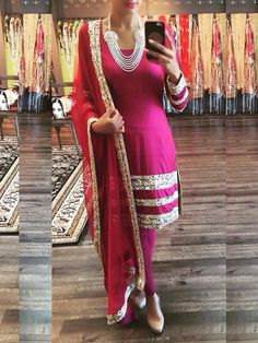 Pink Bollywood Replica Designer Party Wear Dress