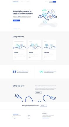 Trustedoctor Landing Page #landingpage #dribbble #ui #illustration #doctor #minimalism #ux #website #webdesign #homepage