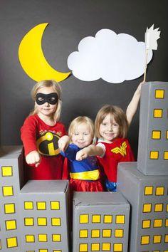 Photobooth para fiestas de superhéroes
