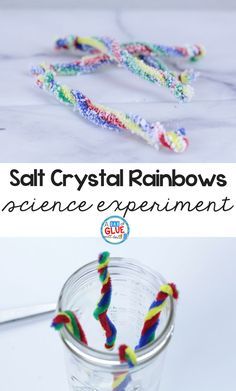 Salt Crystal Rainbow Science for Kids -