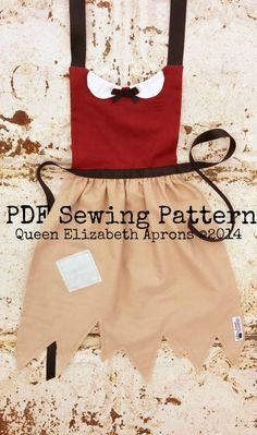 SNOW WHITE Peasant Pdf Sewing PATTERN. Disney Princess inspired Child Costume Apron Fits size 2-8 Toddler Baby Girls. Dress up Play Birthday