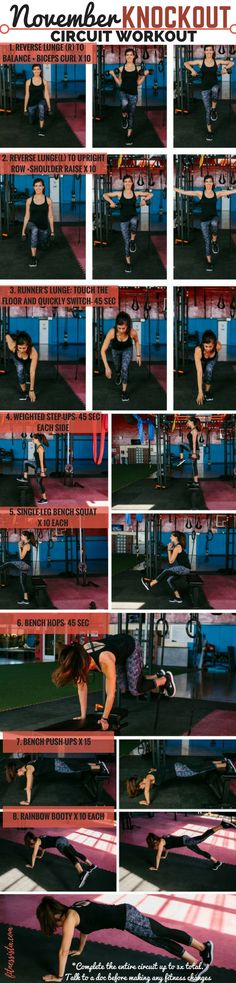 This a total body circuit with a couple of cardio blasts, challenging strength moves, and compound exercises.It's perfect to add into your routine when you need a quick and effective workout. | Total Body Workouts | The Fitnessista 10 Week Workout Plan, Workout Routines For Women, Weekly Workout Plans, Body Building Tips, Building Cake, Everyday Workout, Yoga Fitness, Fitness Plan, Fitness Tips
