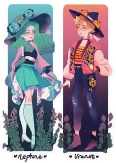 sosuperawesome - sailor moon witches, Uranus and neptune Pretty Art, Cute Art, Evvi Art, Arte Sailor Moon, Witch Art, Animation, Manga Comics, Character Design Inspiration, Manga Art