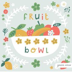 . Fruit Illustration, Mixed Fruit, 100th Day, Pomegranate, Paper Cutting, Fig, Berries, Peach, Pattern Designs