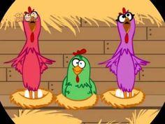 video de Canción infantil para tu bebé y tu hijo     La Gallina Pintadita   Y el Gallo Corocó  La Gallina usa saya   y el gallo un reloj    La gallina se enfermó   y al gallo no le importó  los pollitos fueron corri...