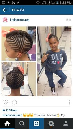 I Love This For A 7 Year Old Girl Hairstyles For Emani