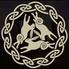 Each of these symbols represents a sacred tree,animal or insect all very important to our ancestors Celtic Oak Tree of life Th. Celtic Animals, Rabbit Pictures, Rabbit Tattoos, Animal Symbolism, Nordic Tattoo, Bunny Art, Time Tattoos, Celtic Tattoos, Celtic Art