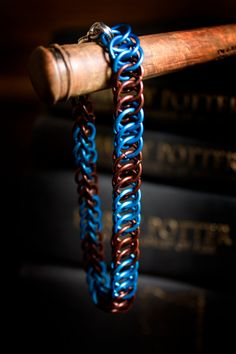 Hogwarts Collection  Striped scarf Chainmaille Bracelet  Ravenclaw by HowlOwl. Harry Potter
