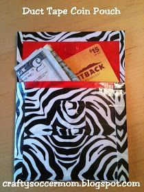 Crafty Soccer Mom: Duct Tape Coin Pouch