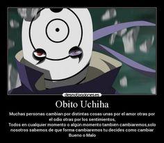 Resultado de imagen para obito uchiha frases