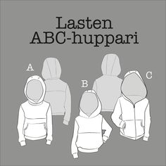 Free pattern for kids hoodie. Childrens Sewing Patterns, Sewing Patterns Free, Free Pattern, Hoodie Pattern, College, Stitch, Hoodies, Knitting, Clothes