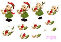 pige med julekort