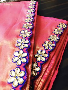 Saree Tassels Designs, Saree Kuchu Designs, Wedding Saree Blouse Designs, Blouse Neck Designs, Aari Embroidery, Hand Work Embroidery, Embroidery Dress, Lace Saree, Silk Sarees