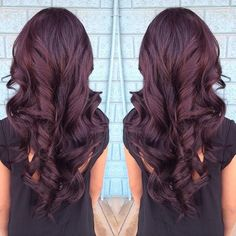 violet-brown curls