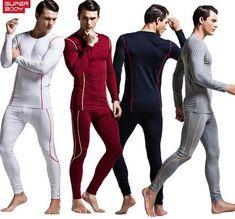 2016 New Fashion Casual Men Winter Fall Modal Sleepwear Sets Sexy Strong Male Undershirt Bodysuit Lingerie Soft Fabric M L XL