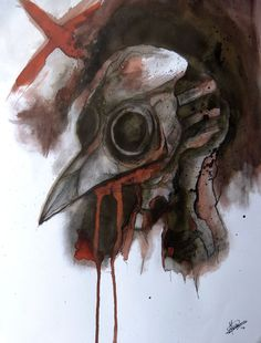 Plague Doctor A3 Pen - Ecoline