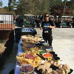 Rebecca helping out this morning at our 7th Annual Golf Tournament #college #golf #thebeststaffever