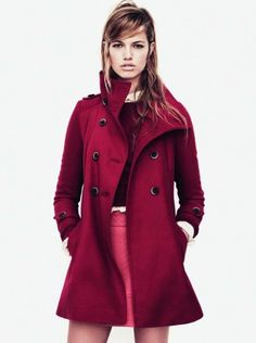 Raspberry trench - Zara TRF fall collection