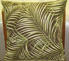 "Palm tree print decorative pillow cover -18"" x 18"" classic throw pillow , plus made in U.S.A"