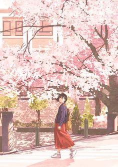 Super ideas for sakura tree drawing anime girls Tree Drawing Wallpaper, Anime Scenery Wallpaper, Anime Girls, Anime Art Girl, Pretty Drawings, Dibujos Cute, Tree Illustration, Illustrations, Tree Photography