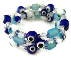 Evil Eye Protection Bracelet  Blue Evil Eye by FullCircleTreasures