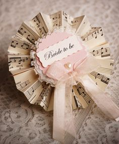 Bridal Party Rosette - I didn't think such a thing as a classy hen party badge existed!