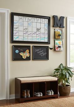 LOVE the idea of a family command center! Paint a Family Message Board on Your Wall
