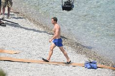 12 July 2016. Fifty Shades Of Grey, Dakota Johnson is seen topless filming scenes with Jamie Dornan on a beach in Nice. Credit: Neil Warner/GoffPhotos.com Ref: KGC-195
