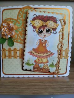 This one was made with a Sherri Baldi stamp..cutouts done on my sillouette..glittered daughter letters and did artwork on the wook fence :-D