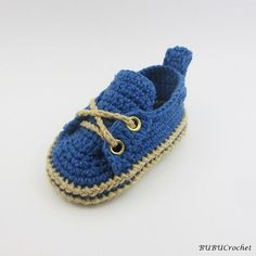 Crochet Baby Booties Blue Baby Shoes Crochet baby ♡ by BUBUCrochet