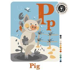Ausschnitt aus dem ABC - Poster für Kinder!