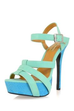Mint colorblock sandals