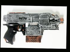Custom painted nerf gun