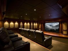 When designing a home theater, you can hand-pick everything from seating to lighting to equipment to create your ideal movie-watching environment. Here are some incredible home theaters to inspire your own project.