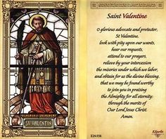 Saint Valentine Prayer | Collectibles > Religion & Spirituality > Christianity > Holy Cards
