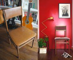 silla de roble con respaldo de rejilla rejilla francesa. Black Bedroom Furniture Sets. Home Design Ideas