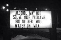 Water won't help
