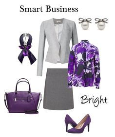 Smart Business Bright by natalia-minnigalimova on Polyvore featuring мода, Basler, Thierry Mugler, Manon Baptiste, Nine West, Coach and Bling Jewelry